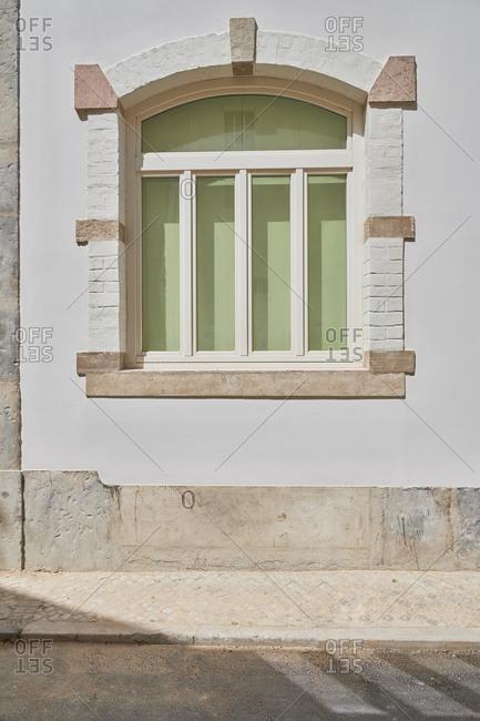 A window on a refurbished building, Lisbon, Portugal