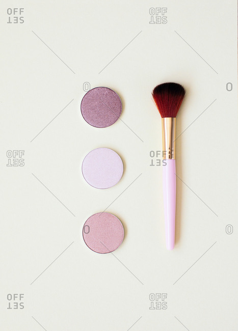 Flatlay of makeup products