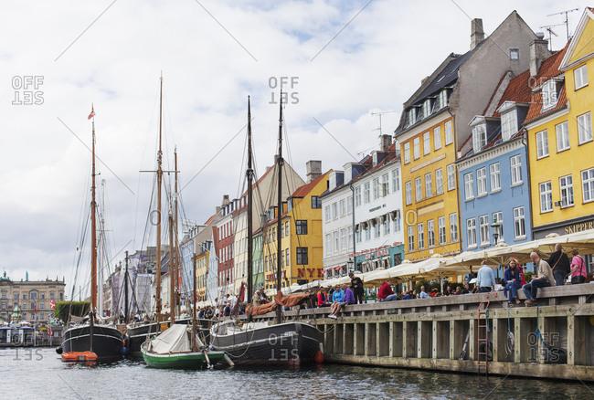 July 20, 2012: Colorful buildings at Nyhavn in Copenhagen, Denmark