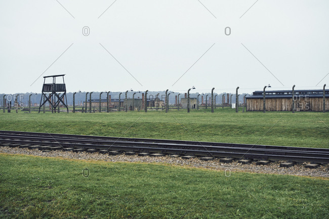 Train tracks at Auschwitz Concentration Camp