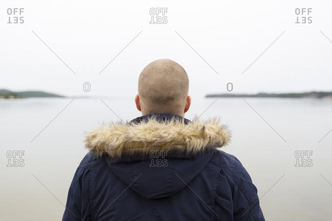 Man looking at sea