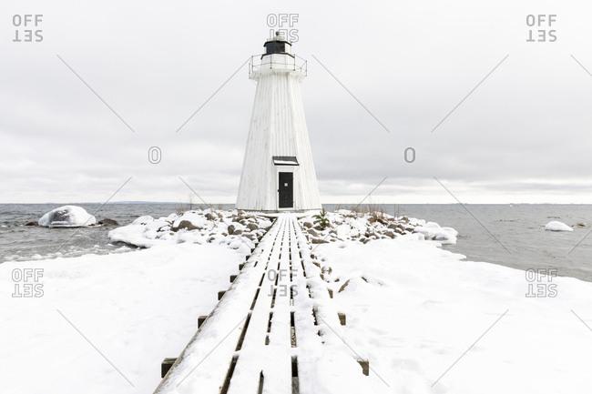 Lighthouse at Lake Vattern in Sweden