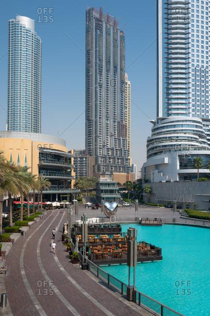 Dubai, United Arab Emirates - June 10, 2020: Downtown Dubai skyline