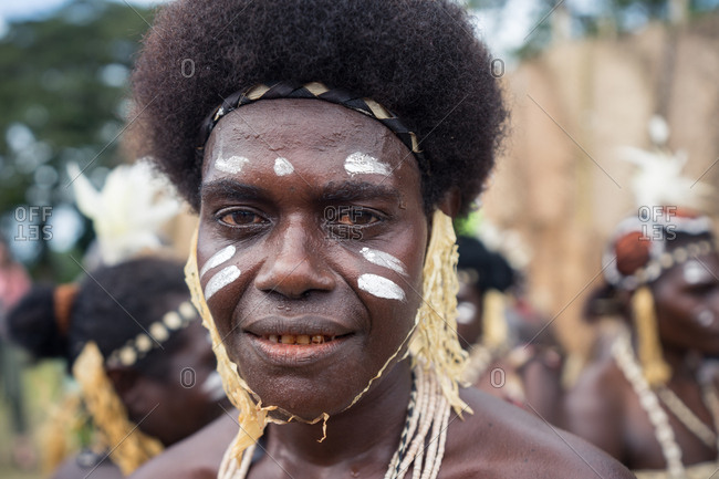 Kokopo, East New Britain, Papua New Guinea - July 12, 2019: Women from Bougainville Island after performing in the Mask Festival