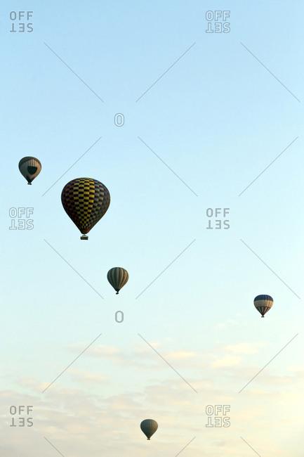 Air balloons against a sky, Cappadocia, Turkey