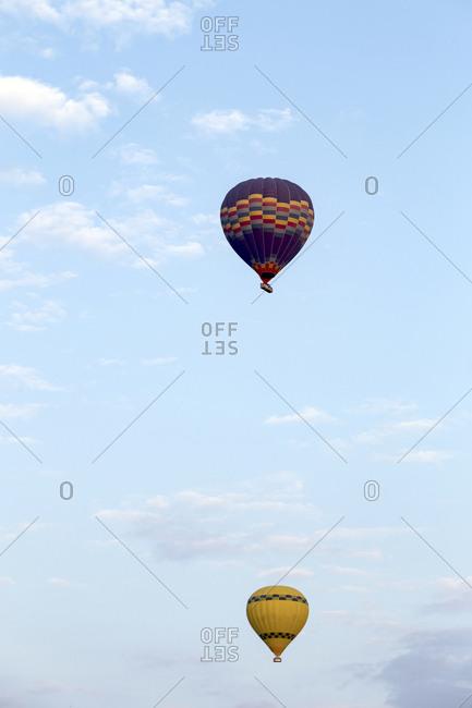 Air balloon against a sky, Cappadocia, Turkey
