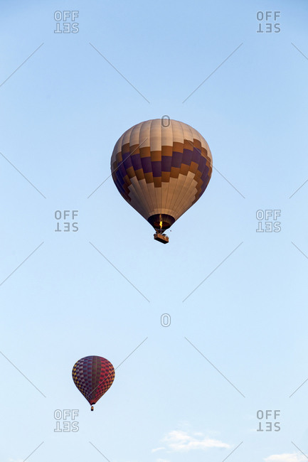 Air balloon against a sky, Cappadocia, Turkey