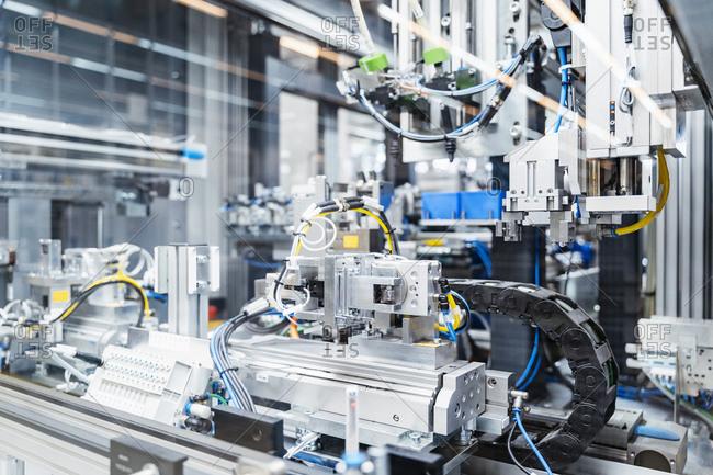 Intricate machinery inside modern factory- Stuttgart- Germany