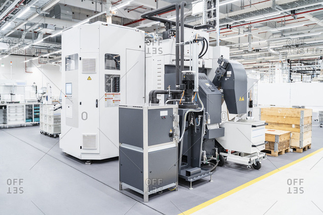 Industrial machinery inside modern factory- Stuttgart- Germany