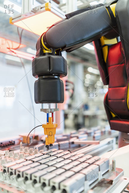 Machine parts and arm of assembly robot- Stuttgart- Germany