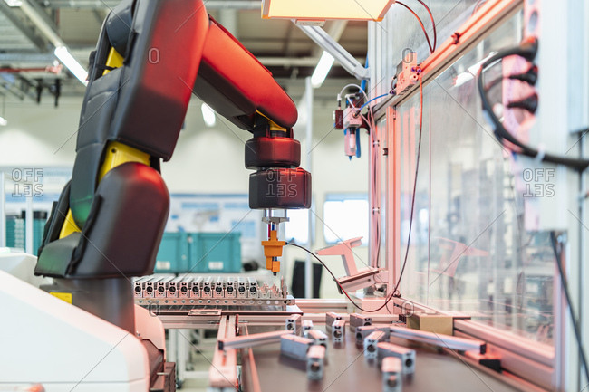 Germany- Stuttgart- Robot in factory