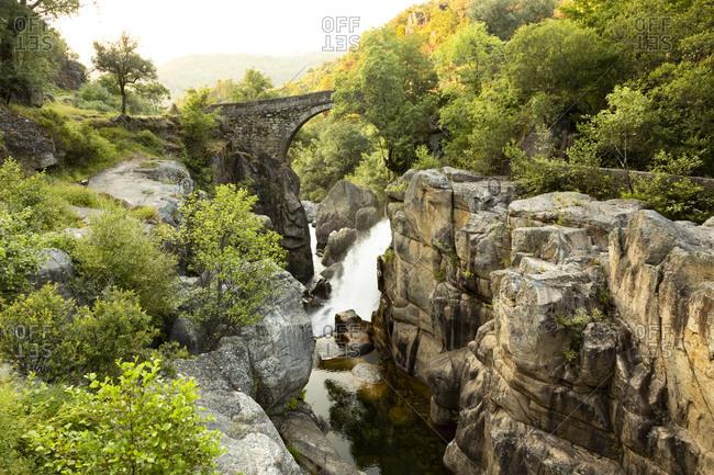 Waterfall by Ponte da Mizarela in Peneda-Geres National Park