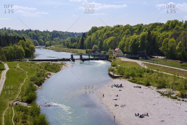 Germany- Upper Bavaria- Pullach-ĘIsar-Werkkanal canal