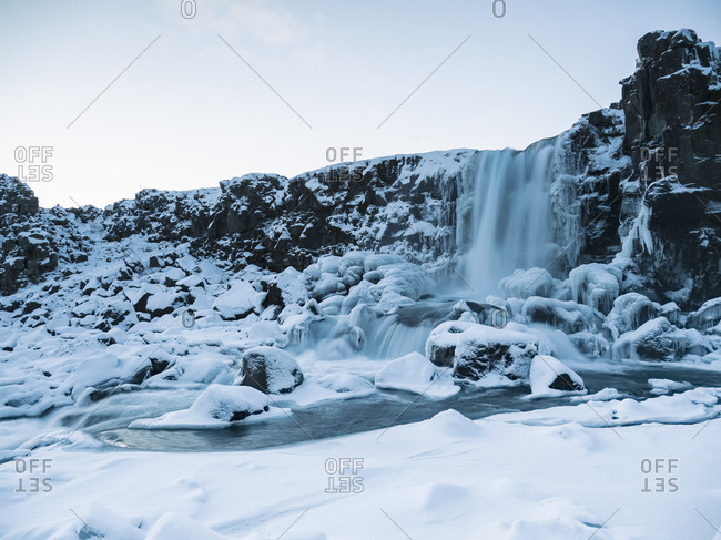 Iceland- Waterfall at Thingvellir National Park