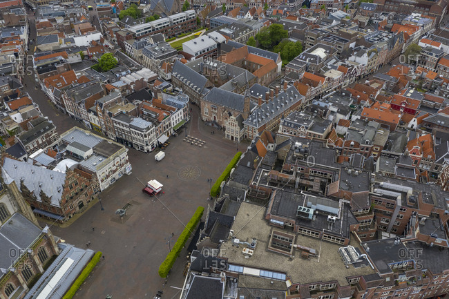 Aerial view of Haarlem cityscape