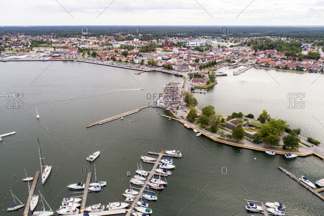 The seaside of the city Vaestervik- Sweden