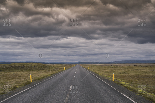 Empty country road in Iceland