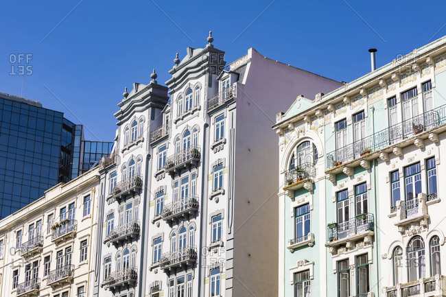 Portugal- Lisbon- Art deco buildings