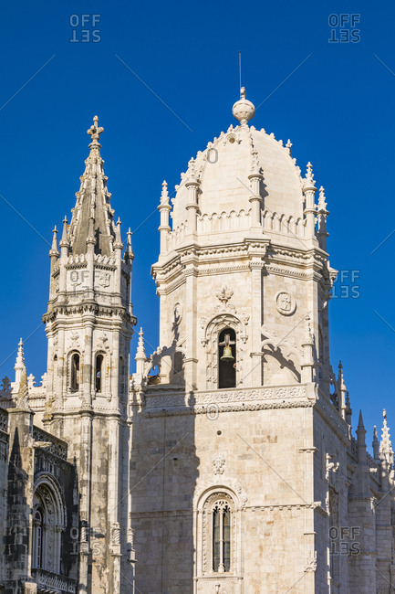 Portugal- Lisbon- Belem- Towers of Jeronimos Monastery