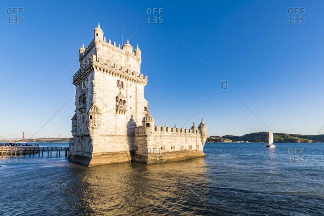 Portugal- Lisbon- Belem Tower on Tagus river