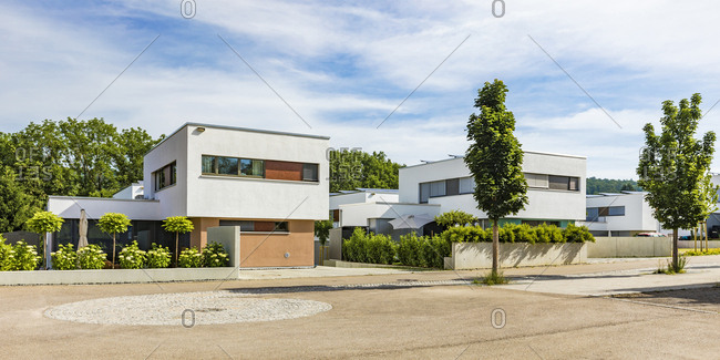 Germany- Baden-Wurttemberg- Esslingen- New energy efficient residential houses