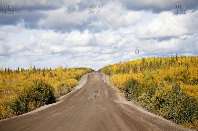 Highway 10 the Inuvik - Tuktoyaktuk Highway in Northwest Territory, Canada