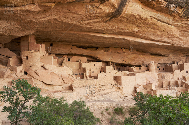 The Cliff Palace, Mesa Verde National Park in Colorado