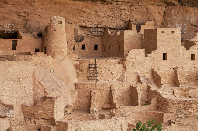 The Cliff Palace from the ancient Puebloans, Mesa Verde National Park in Colorado