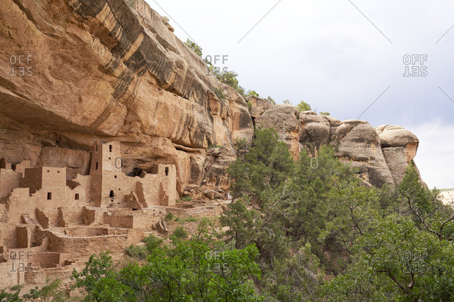 The Cliff Palace nestled in the canyons of Mesa Verde National Park in Colorado