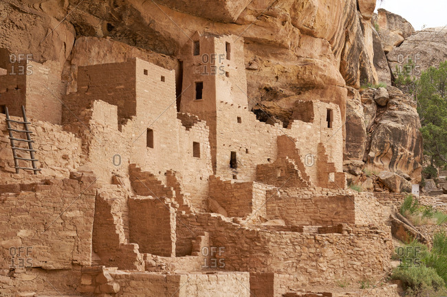 Detail of the Cliff Palace, Mesa Verde National Park, Colorado