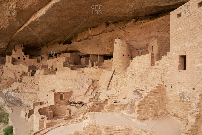 Remains of the Cliff Palace, Mesa Verde National Park, Colorado