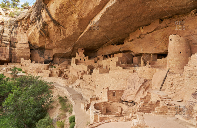 Remains of the Cliff Palace in Mesa Verde National Park, Colorado