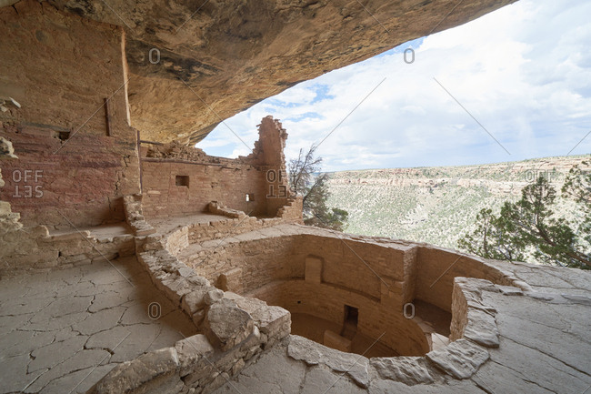 Inside ancient cliff dwelling in Mesa Verde National Park, Colorado