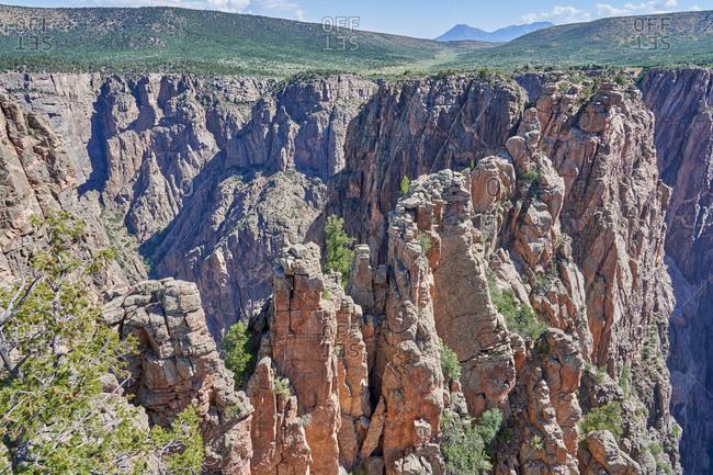Sandstone canyons in Mesa Verde National Park in Colorado