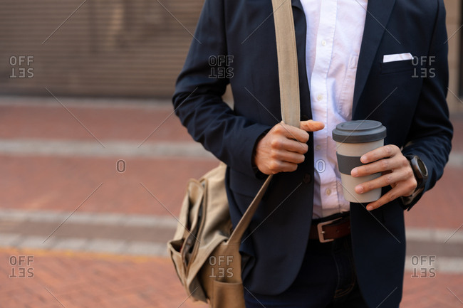 Young professional man on the go