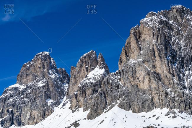 Mountain peaks in Dolomites, Italy