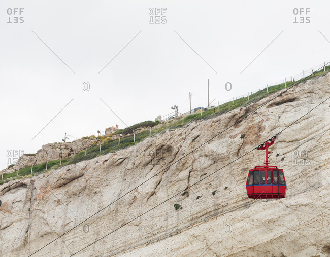 Cable Car at Rosh HaNikra Grottoes, North of Israel