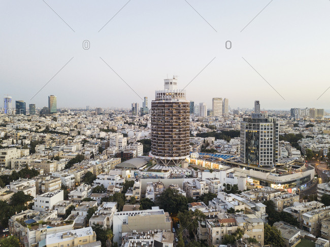 Aerial view of Tel Aviv architecture, Israel