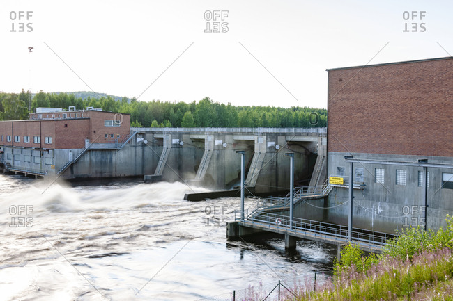 Water power station in Sweden
