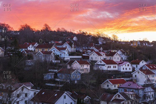 Houses at sunset - Offset Collection