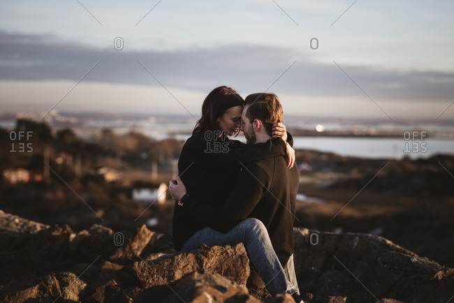 Couple together outdoors