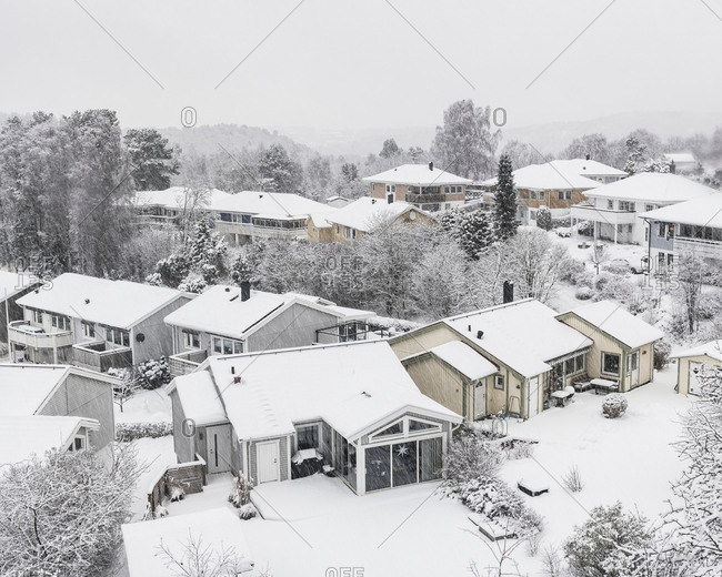 Houses at winter - Offset Collection