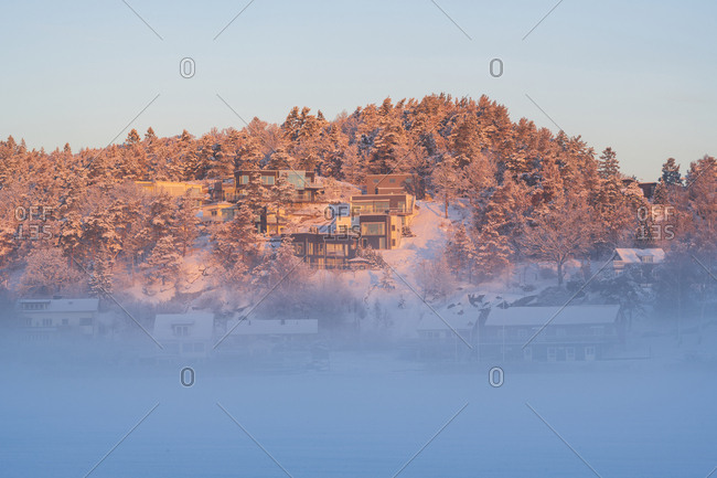Fog surrounding homes - Offset Collection