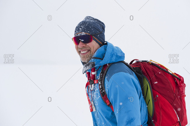 Portrait of man ice-skating