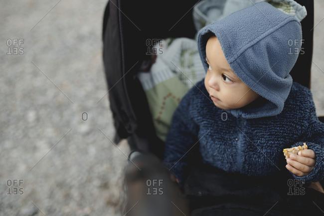Baby boy in pram