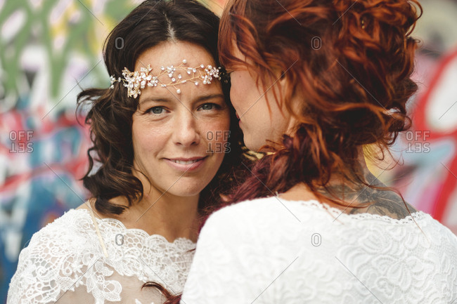Happy brides together