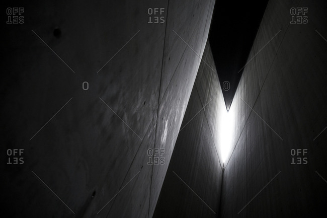 Detail of the Holocaust Tower in the Jewish Museum, Berlin, Germany.