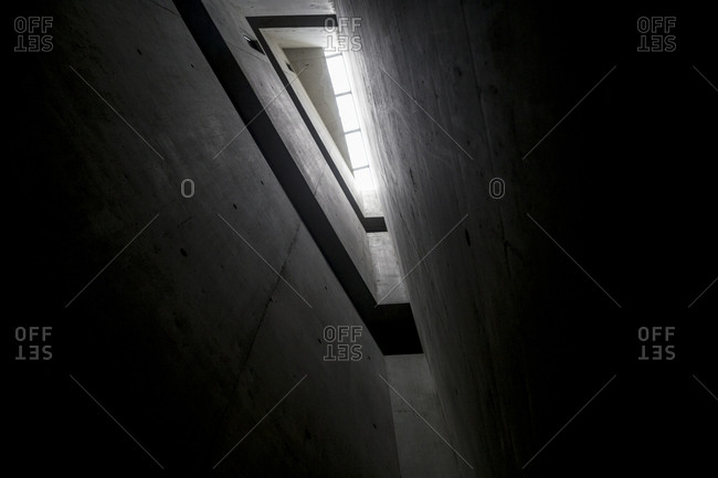 Berlin, Germany - August 30, 2018: Detail of the Memory Void in the Jewish Museum