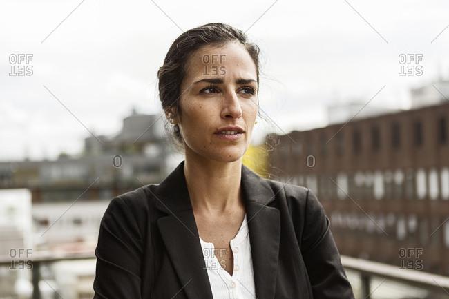 Mid adult woman in urban scene