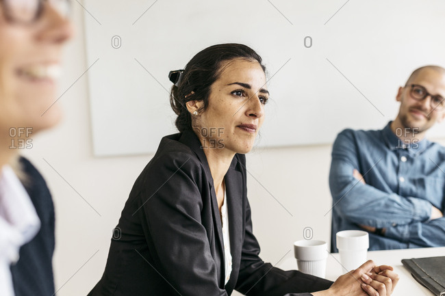 Businesswoman during meeting